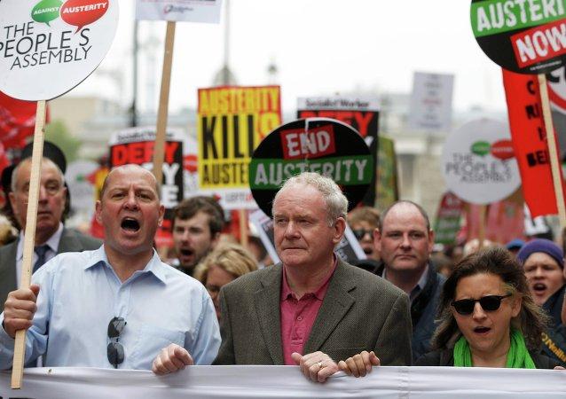 Martin McGuinness, dirigente de Sinn Fein y vice ministro principal de Irlanda del Norte