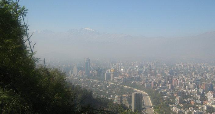Smog en Santiago de Chile (archivo)