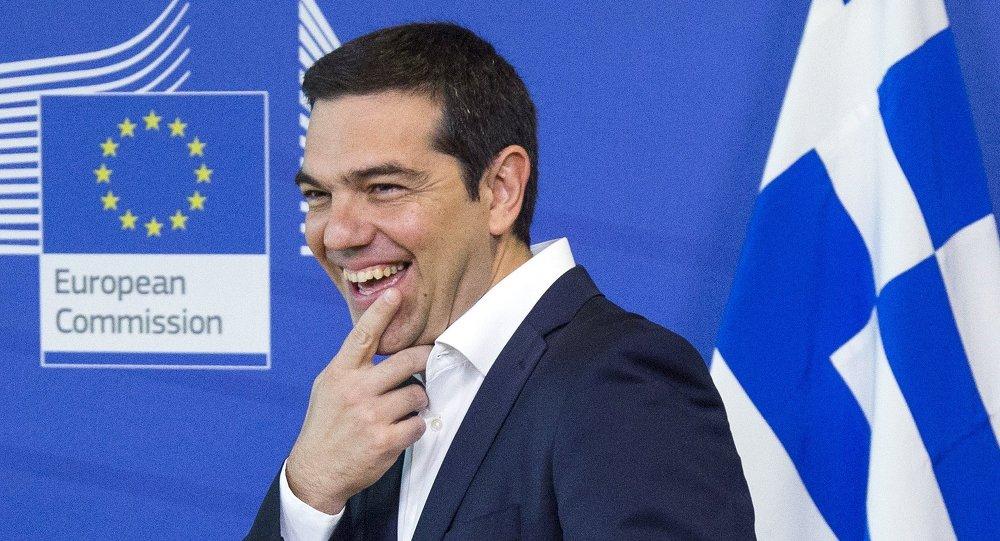 Alexis Tsipras, primer ministro de Grecia en Bruselas, Bélgica, el 22 de junio, 2015