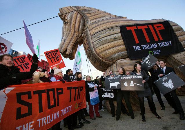 Demonstración contra el TTIP (archivo)