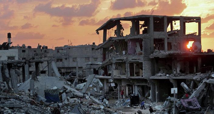 Una casa destruida en la Franja de Gaza (archivo)