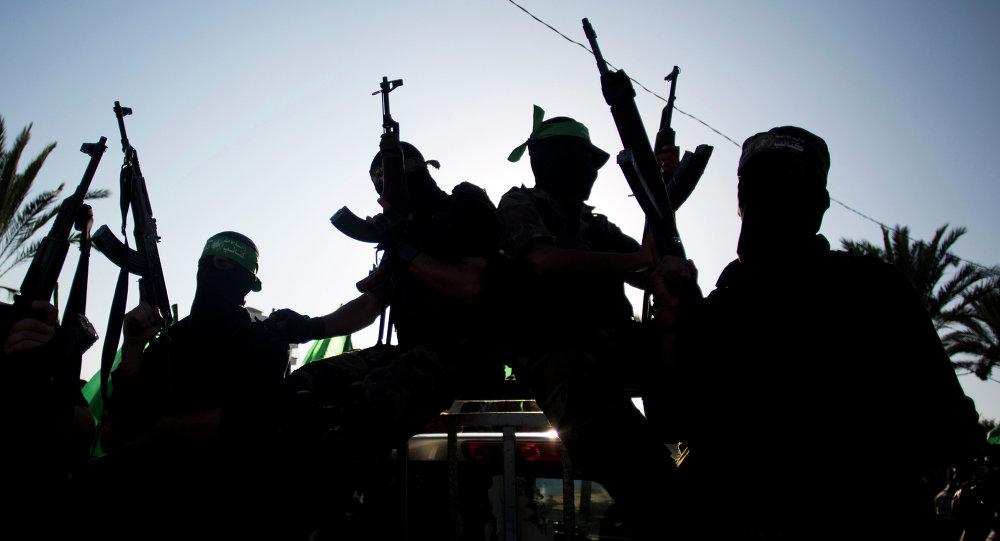 Militantes de Hamás en Gaza