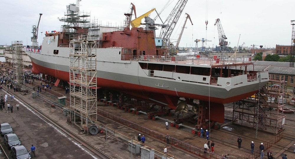 Construcción de la fragata del proyecto 11356
