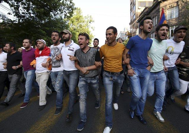 Situación en Ereván