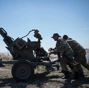 Soldados ucranianos en Donbás