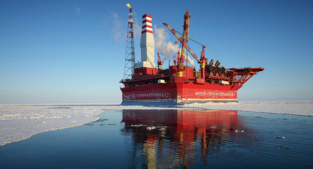 Plataforma petrolera rusa Prirazlómnaya