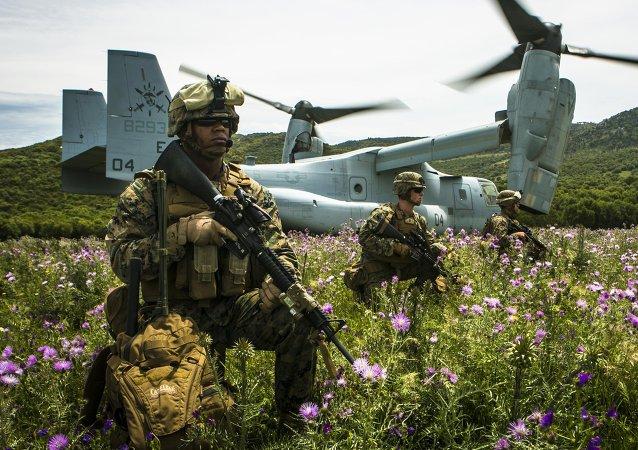 Marines estadounidenses en Sierra Del Retin, España