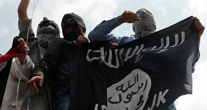 Militantes del grupo yihadista Estado Islámico (EI)