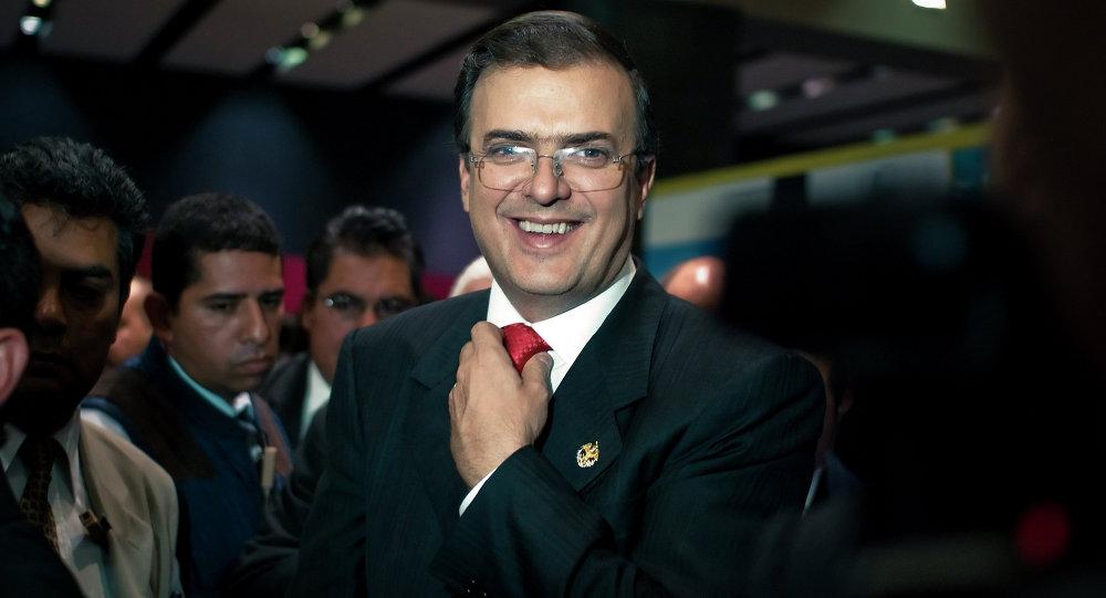 Marcelo Ebrard, jefe de la diplomacia del presidente electo mexicano Andrés Manuel López Obrador