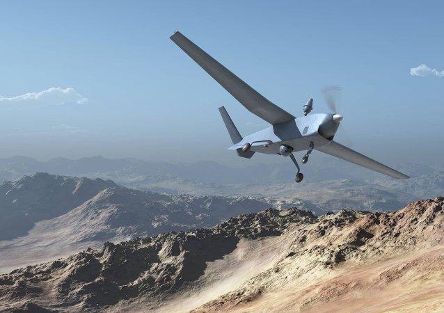 El dron Atlante (acrónimo de Avión Táctico de Largo Alcance no Tripulado Español)