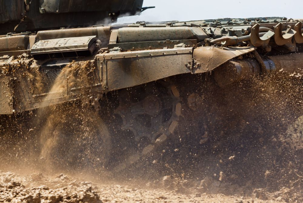Biatlón con tanques en la provincia de Volgogrado