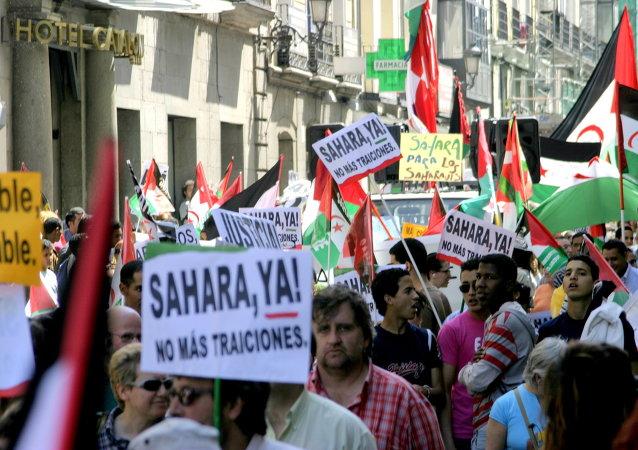 Manifestación en Madrid por la independencia de Sáhara Occidental