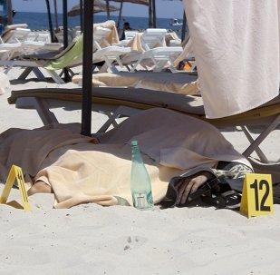 Lugar del atentado en la zona turística Port El Kantaoui