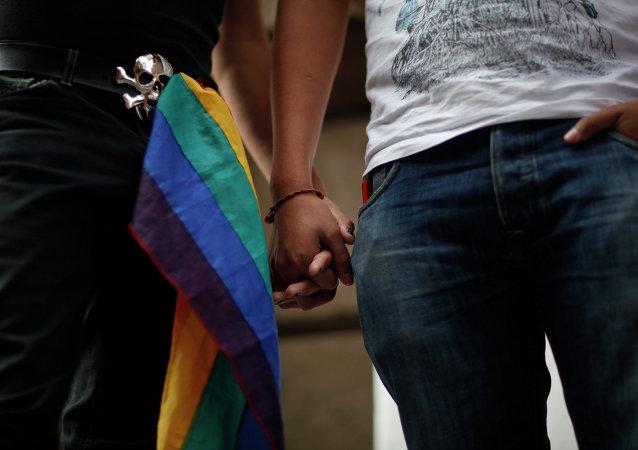 Pareja homosexual (imagen referencial)