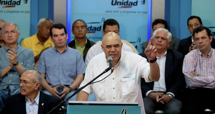 Jesús Torrealba, el secretario ejecutivo de la MUD