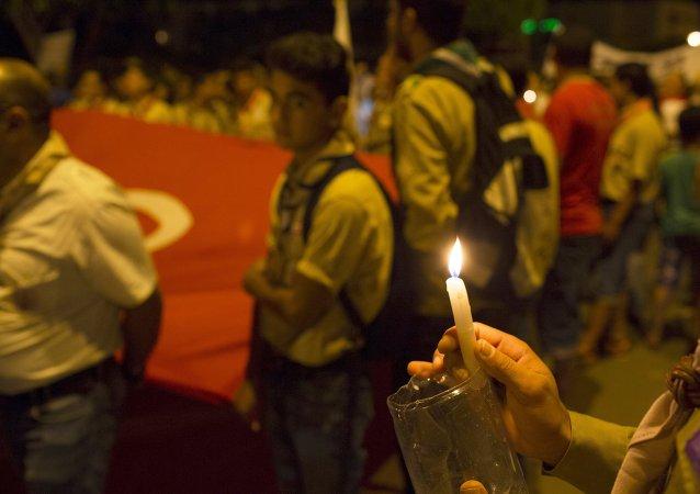 Marcha contra el terrorismo en Susa, Túnez