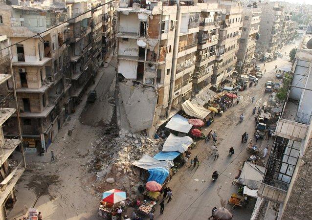 Situación en la región de la ciudad de Alepo en Siria