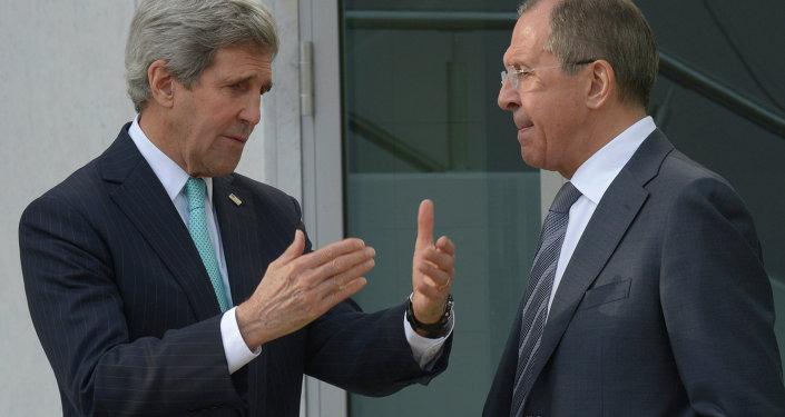 John Kerry, ministro de Asuntos Exteriores de EEUU, y Serguéi Lavrov, ministro de Asuntos Exteriores de Rusia