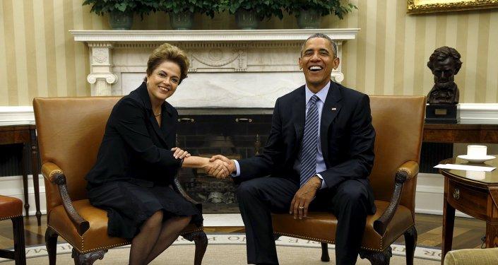 Presidenta de Brasil, Dilma Rousseff y presidente de EEUU, Barack Obama