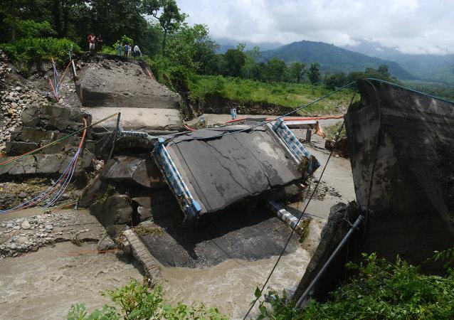Deslizamientos de tierra en la India