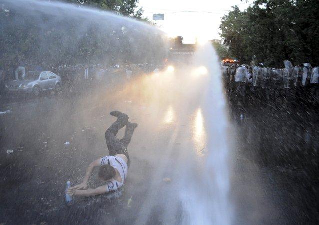 Manifestantes en Armenia (Archivo)