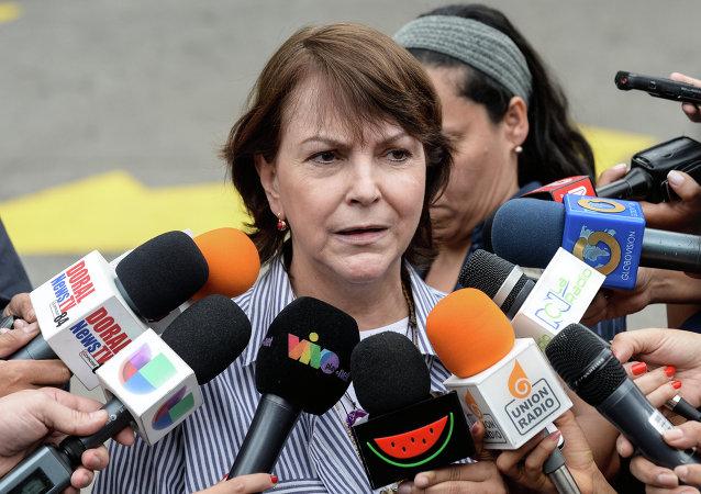 Mitzy Capriles, esposa del opositor venezolano Antonio Ledezma (Archivo)