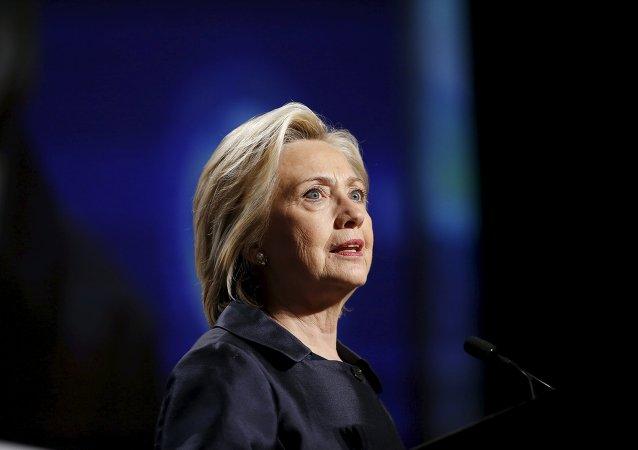 Precandidata demócrata a las elecciones presidenciales estadounidenses, Hillary Clinton