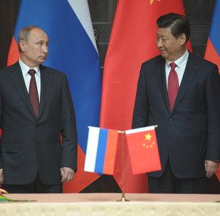 Presidente de Rusia Vladímir Putin y Presidente de China Xi Jinping  (Archivo)