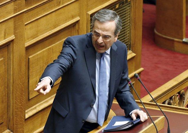 Antonis Samaras, líder del partido opositor Nueva Democracia