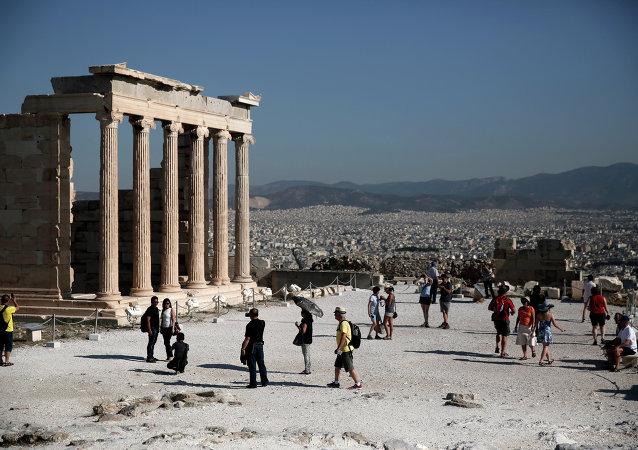 Templo Erecteion en la Acrópolis de Atenas