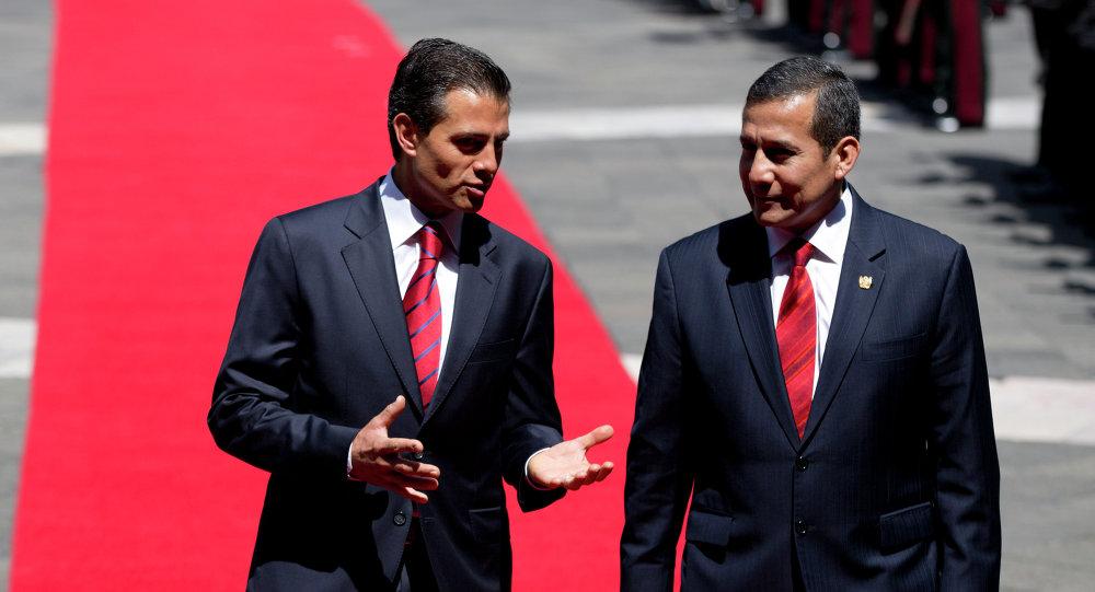 El presidente de México, Enrique Peña Nieto, y el presidente de Perú, Ollanta Humala