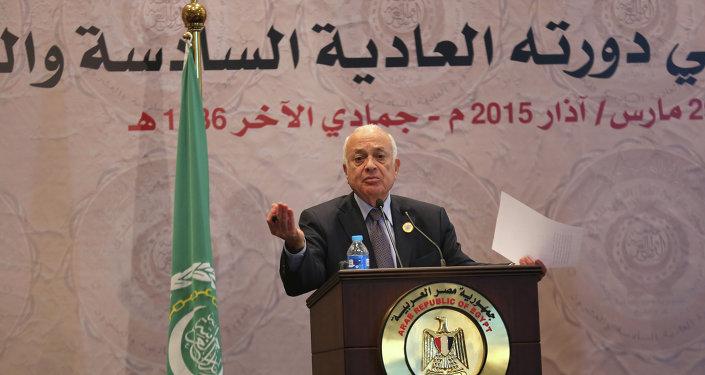 El secretario general de la Liga, Nabil al Arabi