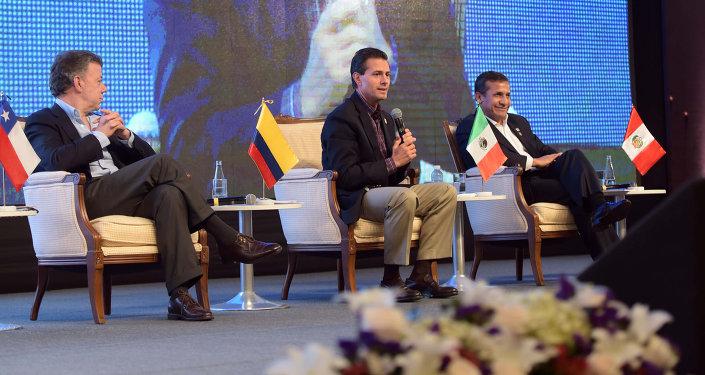 Presidente de México, Enrique Peña Nieto, en la Cumbre del Pacífico