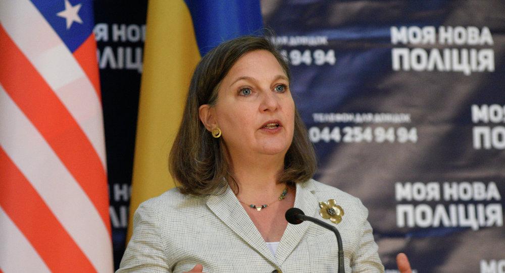 Subsecretaria de Estado de EEUU, Victoria Nuland, en Kiev, Ucrania
