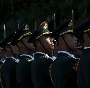 La guardia de honor del Ejército de Liberación Popular (ELP)
