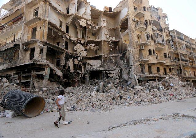 Casa destruida en Siria (Archivo)