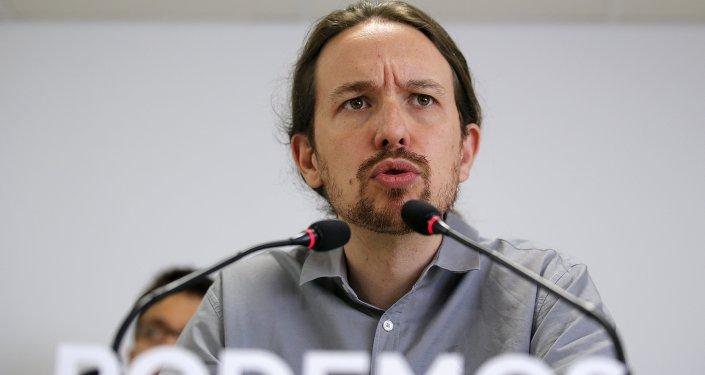 Pablo Iglesias, líder del partido español Podemos (archivo)