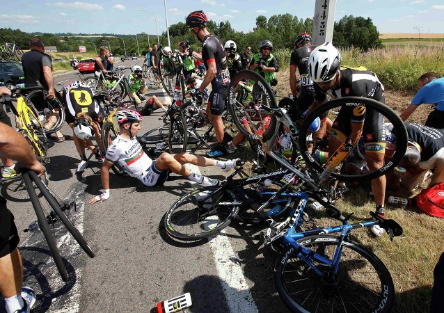 Terrible accidente en el Tour de Francia