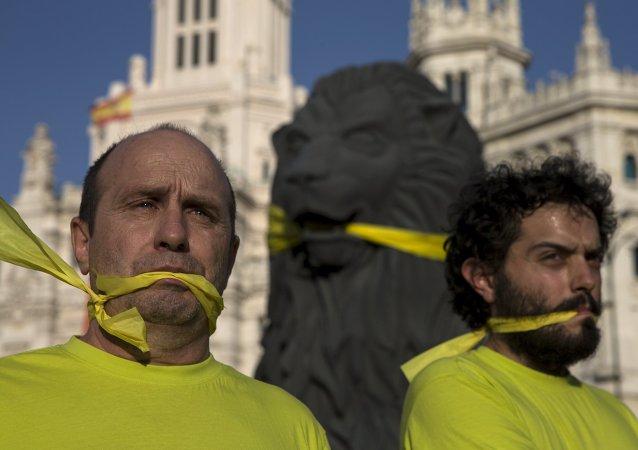 Protestas contra la Ley Mordaza en España