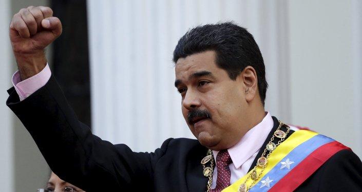 Nicolás Maduro, presidente de Venezuela, en la Asamblea Nacional en Caracas (archivo)