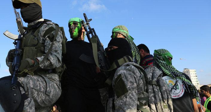 Militantes de Hamás en Gaza (archivo)