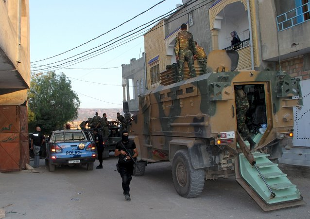 Soldados y policías en Argelia (archivo)