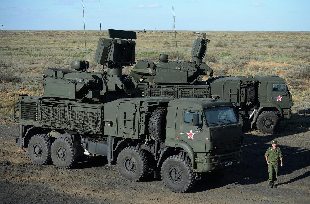 El sistema Pántsir-S1 es una combinación de misiles y cañones
