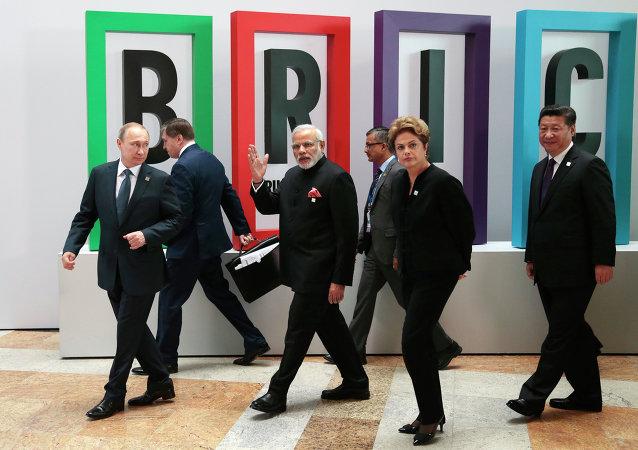 Los líderes del BRICS