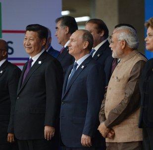 Participantes de la reunión de los jefes de estados de BRICS