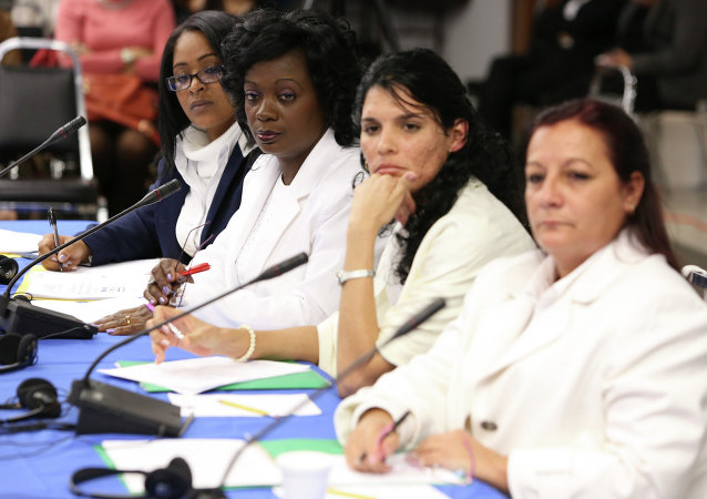 Damas de Blanco (Berta Soler Fernandez, Zayli Navarro, Magaly Norvis Otero Suárez) (Archivo)