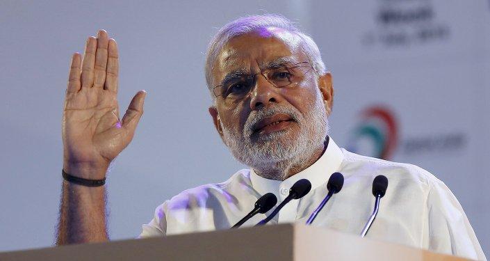 Narendra Modi, primer ministro de la India, el 1 de julio, 2015