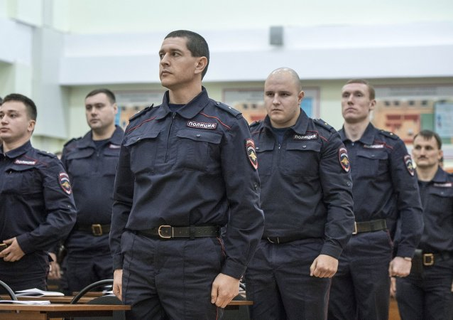 Empleados del Ministerio del Interior de Rusia