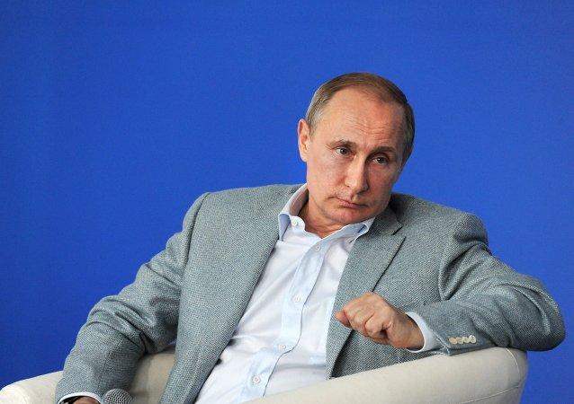 Vladímir Putin, presidente de Rusia, el 14 de julio, 2015