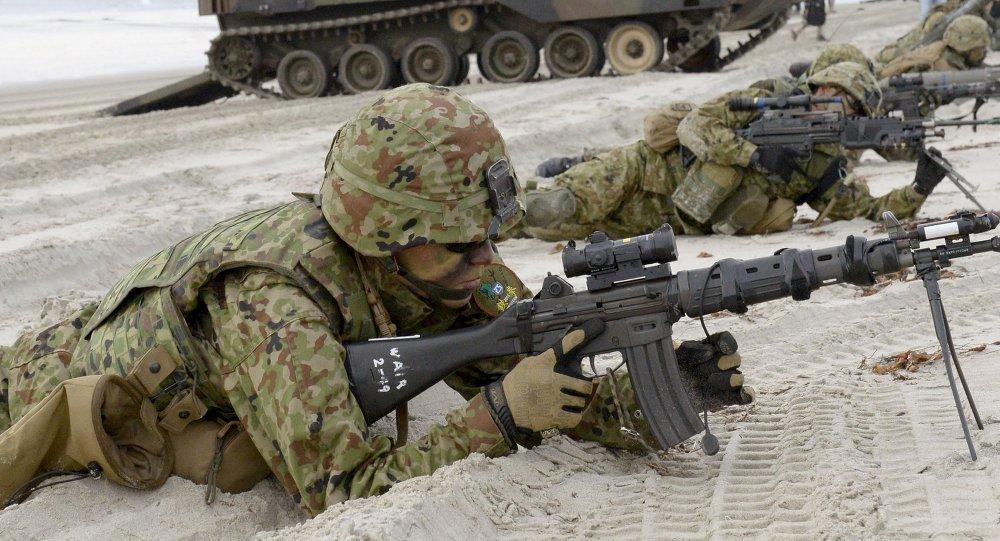 Fuerzas de Autodefensa de Japón durante maniobras militares (archivo)